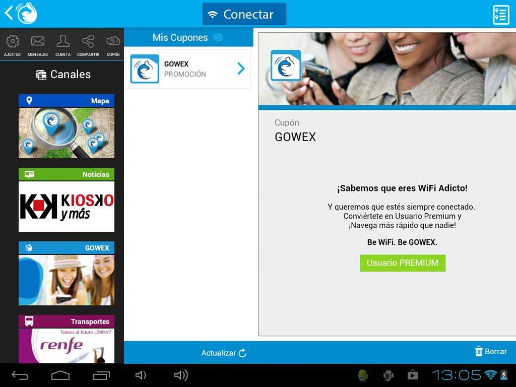 GOWEX FREE Wi-Fi - screenshot
