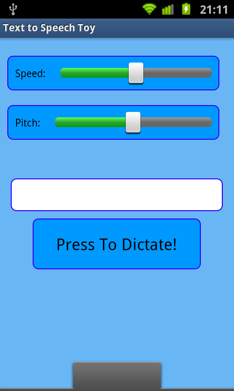 Text To Speech Toy - screenshot