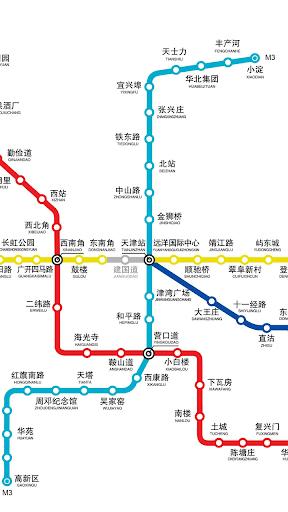 天津地铁路线图