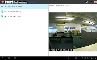 Screenshot of OnGuard Mobile Monitoring