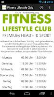 Screenshot of Fitness Lifestyle Club