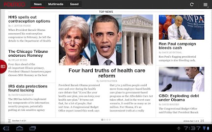 POLITICO For Tablet Screenshot 1