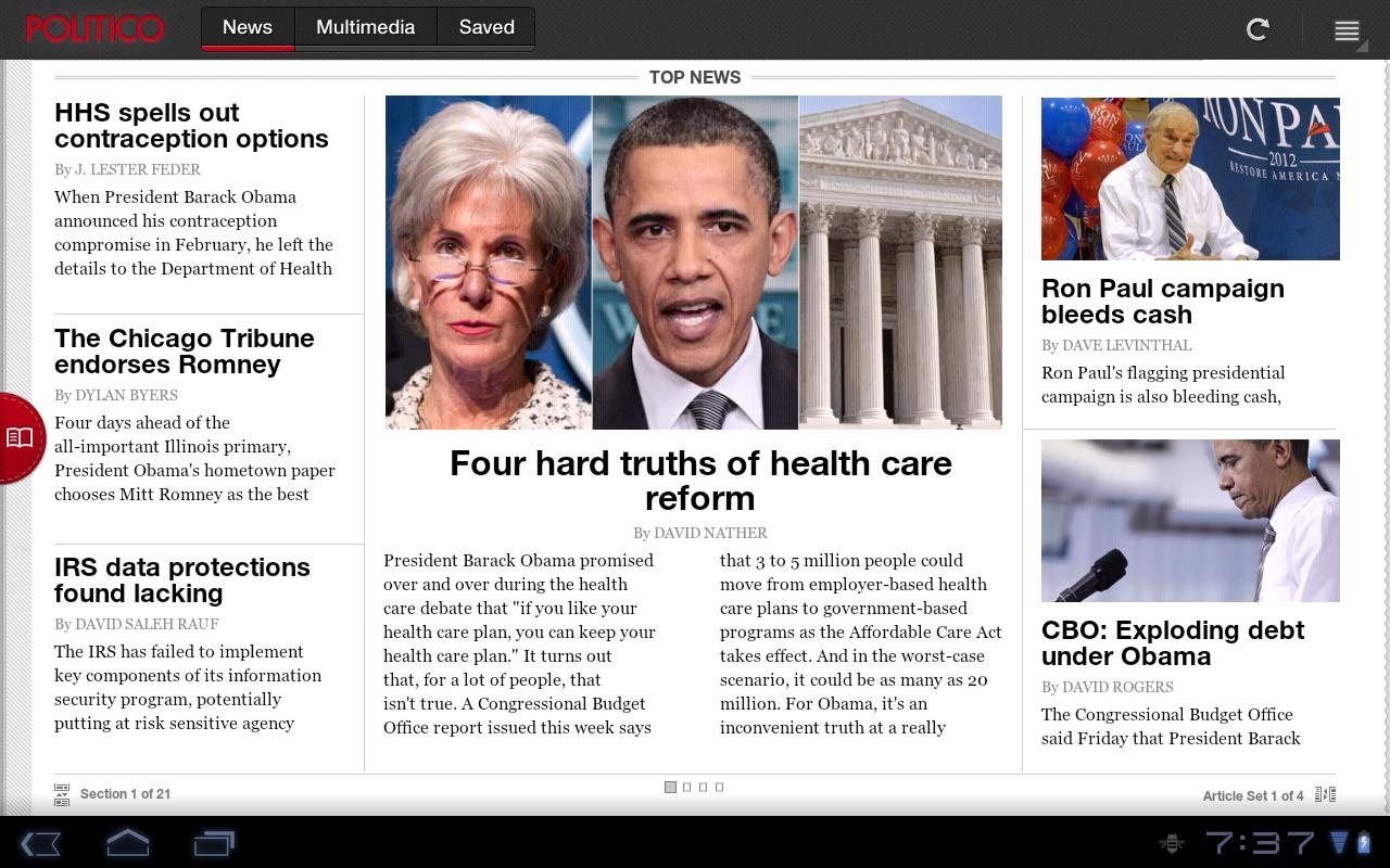 POLITICO For Tablet - screenshot