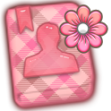 GO CONTACTS - PeachPlaidFlower icon