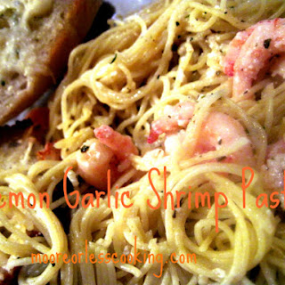 Lemon Garlic Shrimp Pasta.