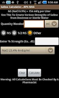 Screenshot of Saline Calculator