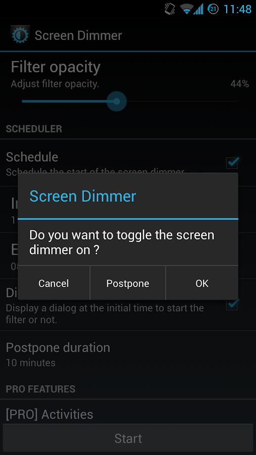 Screen Dimmer - screenshot