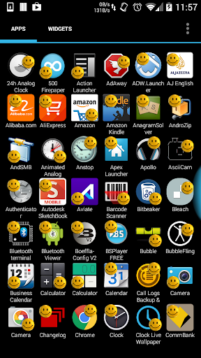 Smiley Yellow Face Icon Theme