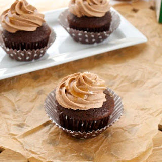 Chocolate Cupcakes with Salted Caramel Chocolate Buttercream