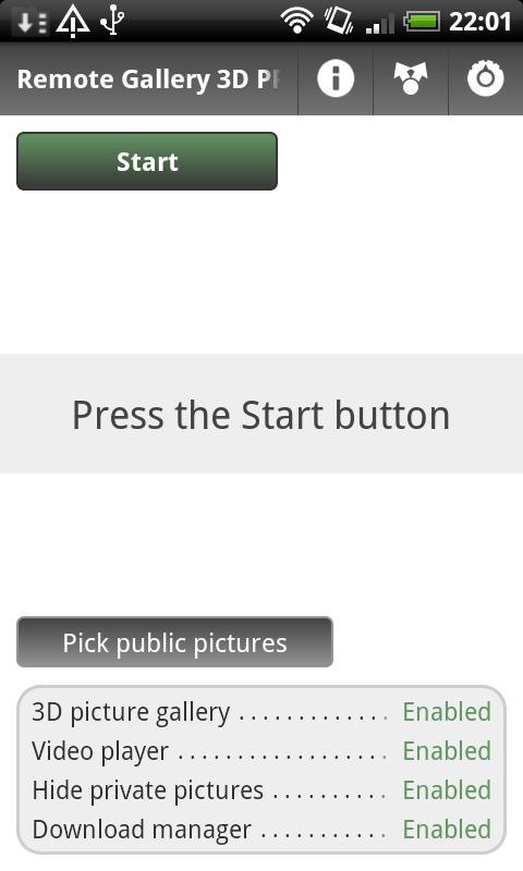 Remote Gallery 3D PRO- screenshot