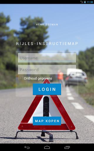 Rijles-instructiemapp