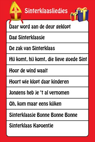 Sint Liedjes - screenshot