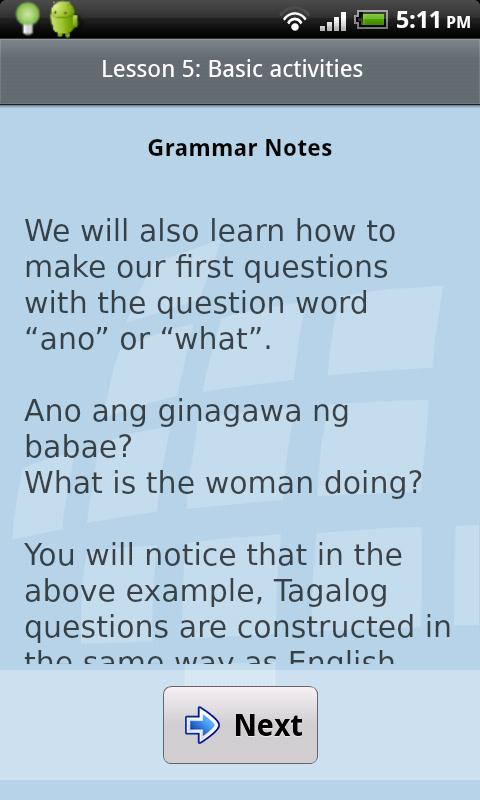 L-Lingo Learn Tagalog Pro - screenshot