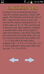 Algebra 102 APK screenshot thumbnail 9