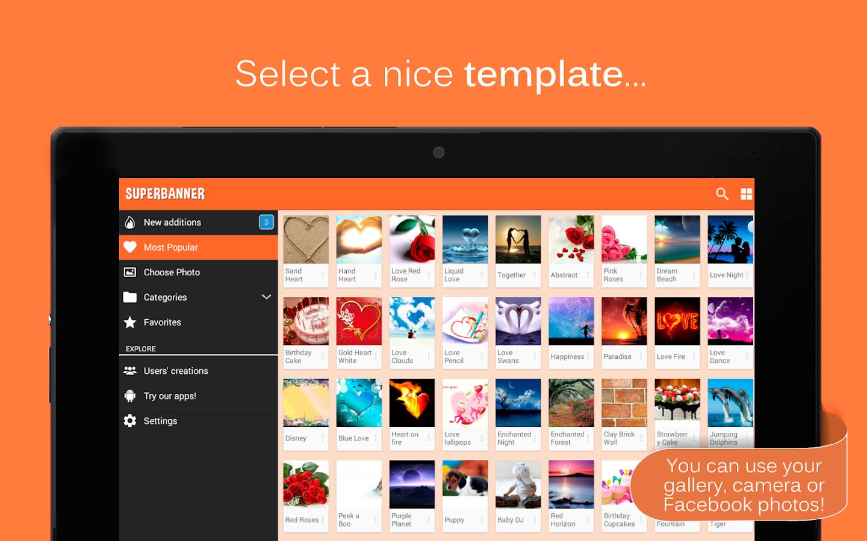 Poster design software - Superbanner Text Banners Screenshot