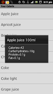 Your Calorie Counter- screenshot thumbnail