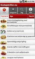Screenshot of Madopskrifter.nu - Madplanen