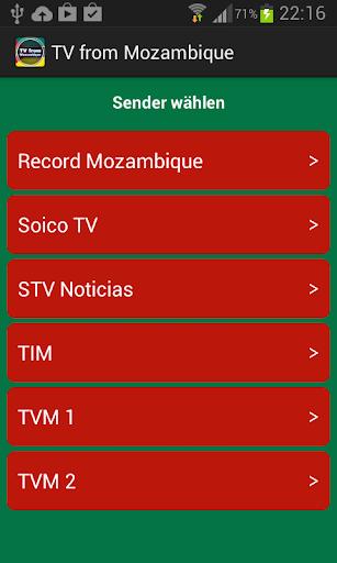モザンビークからのテレビ