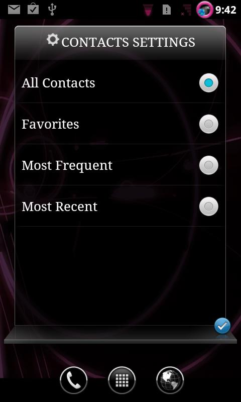 EB Contacts Widget - screenshot