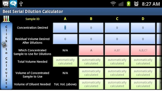 Best Serial Dilution Calc - screenshot thumbnail