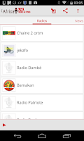 Screenshot of Africa radio & news