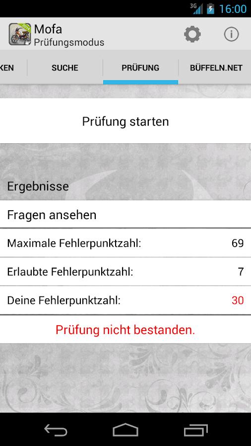 Mofaführerschein- screenshot