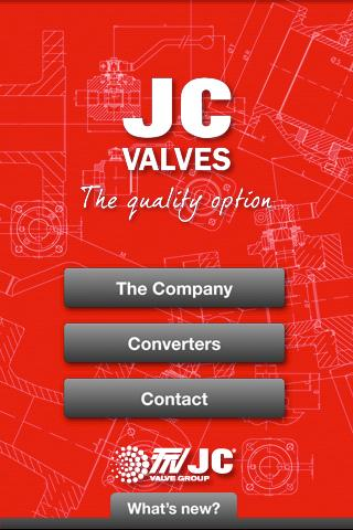 JC Valves- screenshot