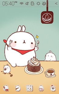Molang Cafe Atom Theme