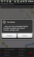 Screenshot of Location Privacy
