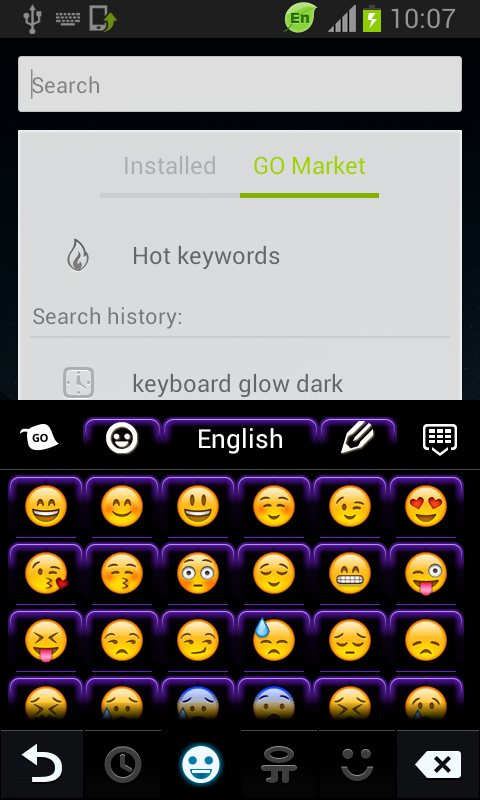 Keyboard Color Neon Purple - screenshot