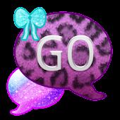 GO SMS THEME/GlitterLeopard