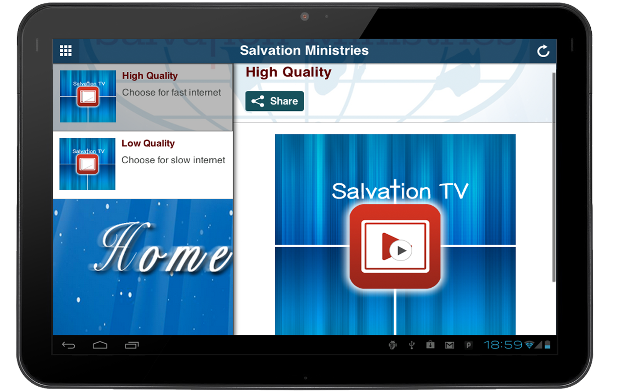 Salvation Ministries- screenshot