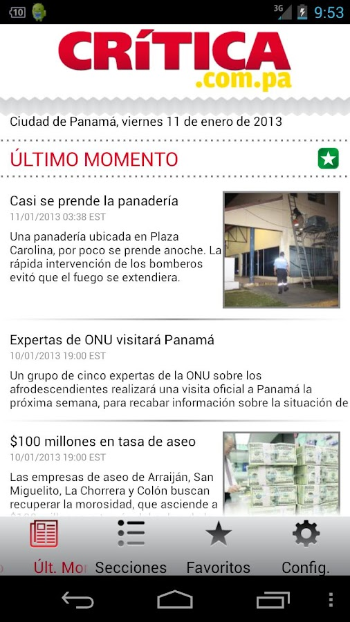 Crítica Panamá - screenshot