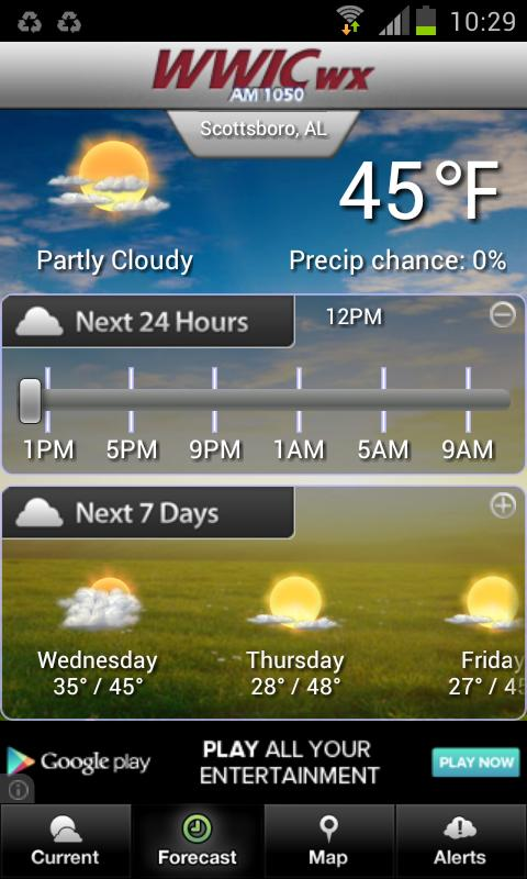 WWIC Weather- screenshot