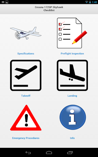 Cessna Skyhawk Checklist