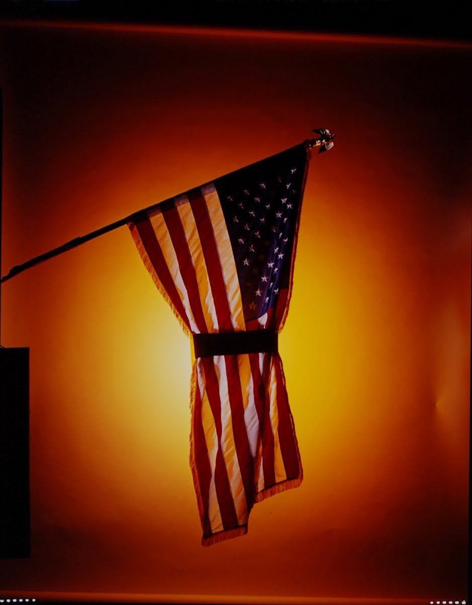 Moratorium Day - 10-15-69, Cover Try - American Flag Draped With Black Armband