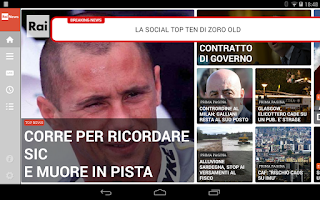 Screenshot of Rainews