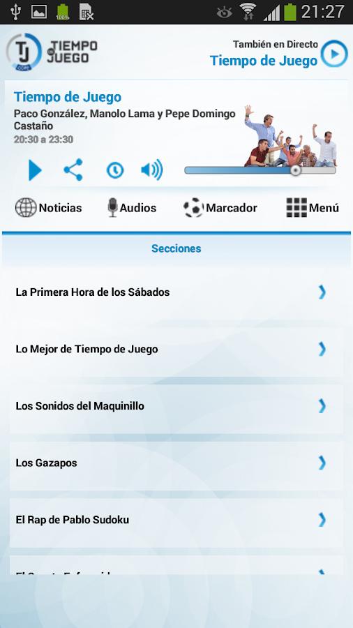 Tiempo de Juego COPE - screenshot