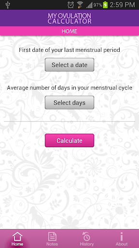 My Ovulation Calculator Screenshot