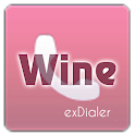 exDialer Theme - SSB Wine&Pink icon