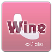 exDialer Theme - SSB Wine&Pink