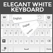 Elegant White Keyboard
