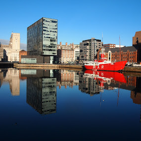 View from Liverpool by Name of Rose - City,  Street & Park  Vistas ( planet, lightship, ship, liverpool, mersey bar, travel,  )