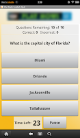 Screenshot of USA State Capitals Quiz