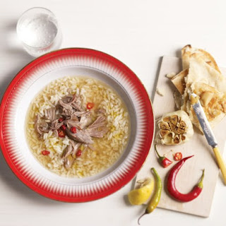 Turkish Rice Soup with Lamb