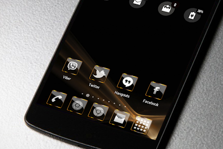 Golden Glass Icon Pack HD v1