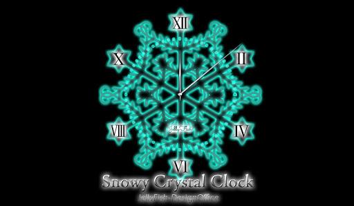 雪の結晶透過アナログ時計ウィジェット