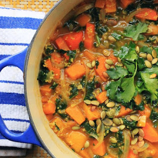 Vegan Curry Butternut Squash Soup With Kale