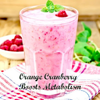 Orange Cranberry Healthy Smoothie