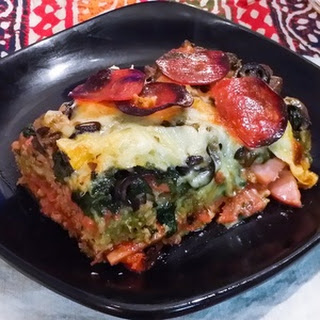 Fully-Loaded Supreme Pizza Casserole